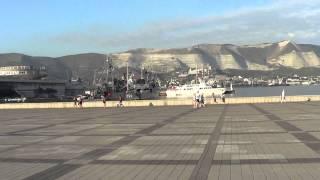 набережная новороссийск порт фонтаны