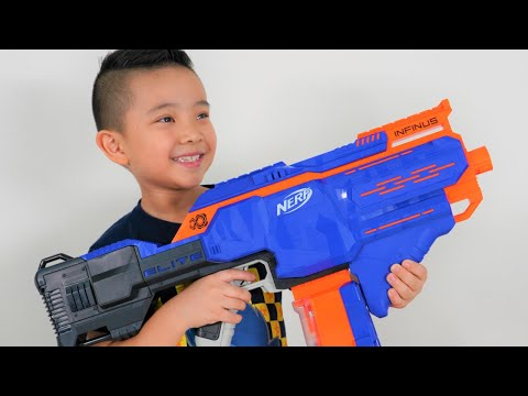 NERF INFINUS Auto Reload Test Blaster Fun With CKN Toys