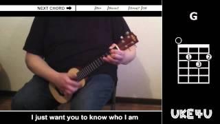 Goo Goo Dolls - Iris - Ukulele Tutorial Playalong Karaoke - With Chords And Lyrics