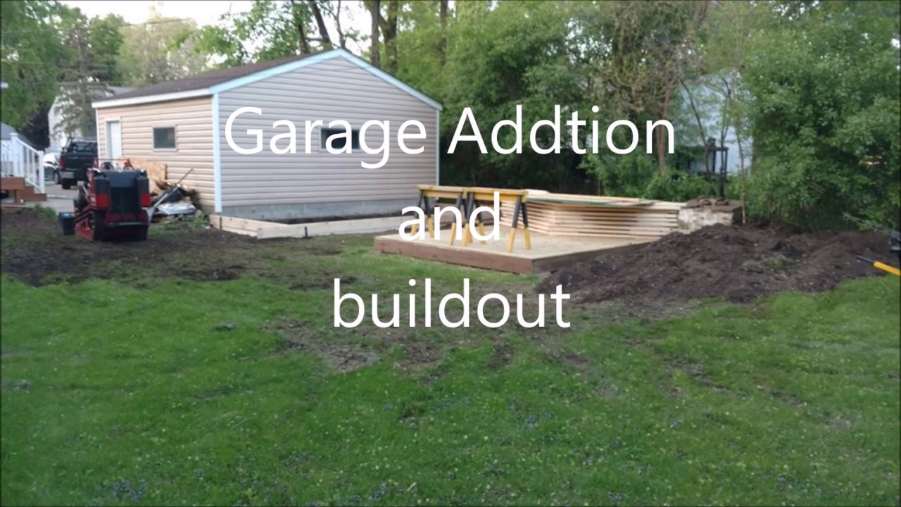 quick over view of garage addition and shed - Garage Addition