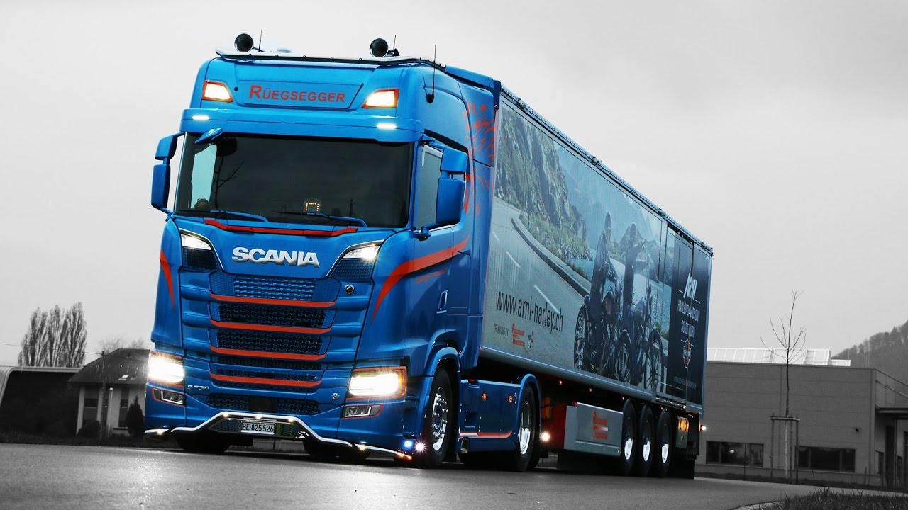 2018 Scania S730 V8 Blue Edition Next Generation - YouTube
