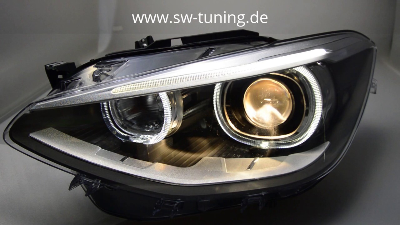 angel eye scheinwerfer f r 1er bmw f20 f21 11 15 high led. Black Bedroom Furniture Sets. Home Design Ideas
