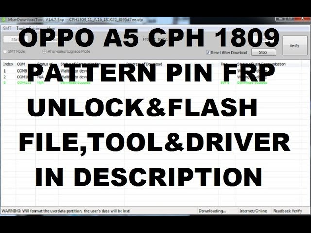 Free stock room oppo a5s cph1909 flash file repair any error