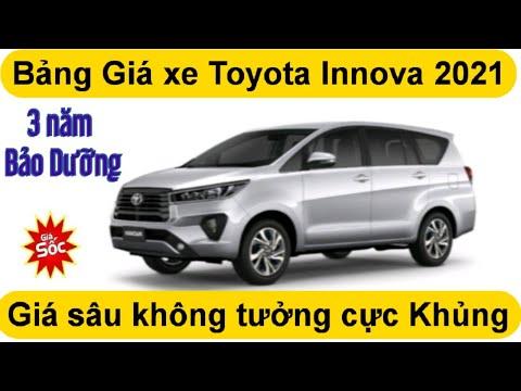 Bảng giá xe Toyota Innova 2021 Giảm sâu chưa từng thấy Xe 24h Toyota Pháp Vân Hà Nội