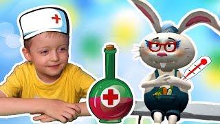 Доктор для Лисенка и его Друзей #2 Левушка Лечит Животных Видео для Детей lion boy