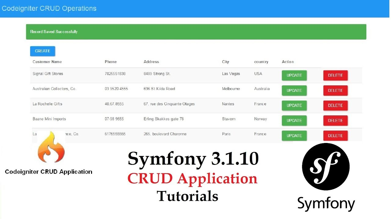 How to make a CRUD Application using Symfony3 and Bootstrap for  Beginners-HINDI