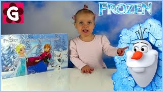 Gaby opens Disney Frozen Christmas Advent Calendar with 24 Frozen Make Up Toys