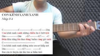 #18 Thực hành đàn guitar nhịp 3/4 - Con kênh xanh xanh & ngày đầu tiên đi học