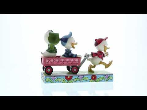 Disney Traditions Huey Dewey & Louie on wagon