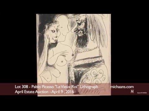 """Pablo Picasso """"Le Vieux Roi"""" Lithograph"""
