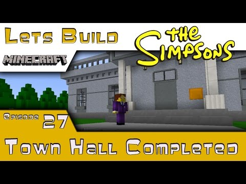 Minecraft :: Springfield Lets Build :: Town Hall Completed :: E27