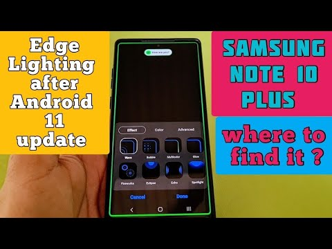 edge lighting settings for samsung galaxy note 10 plus with one ui 3 0 and android 11