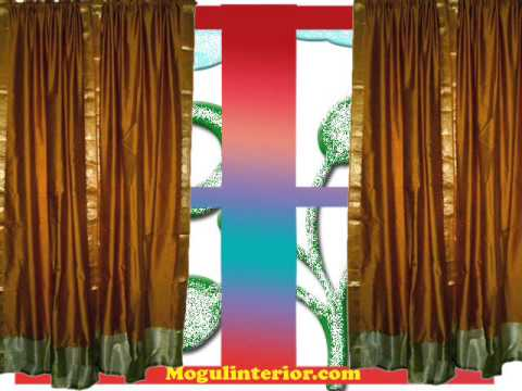Silk Sari Curtains: Indian Silk Sari Curtains