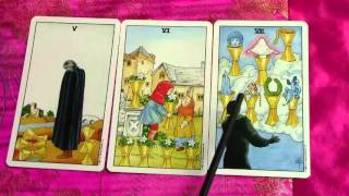 Cups Tarot Card Meaning Minor Arcana Suit Cups  Pt 3 - Five Cups, Six Cups & Seven of Cups