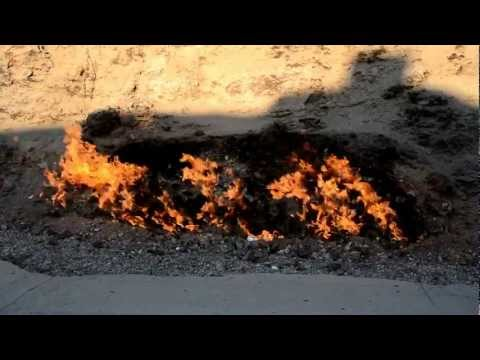 Baku - natural gas fire