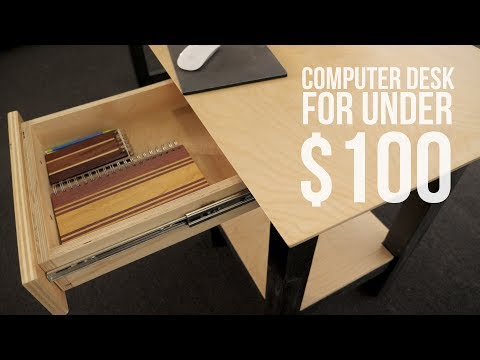 DIY Computer Desk for Under $100 | KevBotWorkshop | Woodworking