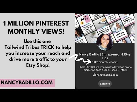 Tailwind Tutorial | Using Pinterest for Etsy | How To Get Traffic From Pinterest | Nancy Badillo thumbnail