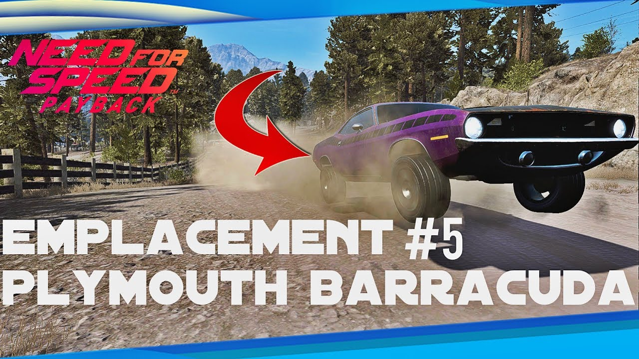 need for speed payback emplacement voiture abandonn e 5 plymouth barracuda youtube. Black Bedroom Furniture Sets. Home Design Ideas
