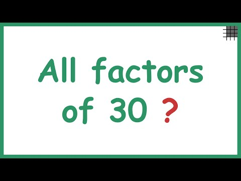 Finding all the Factors of a Number