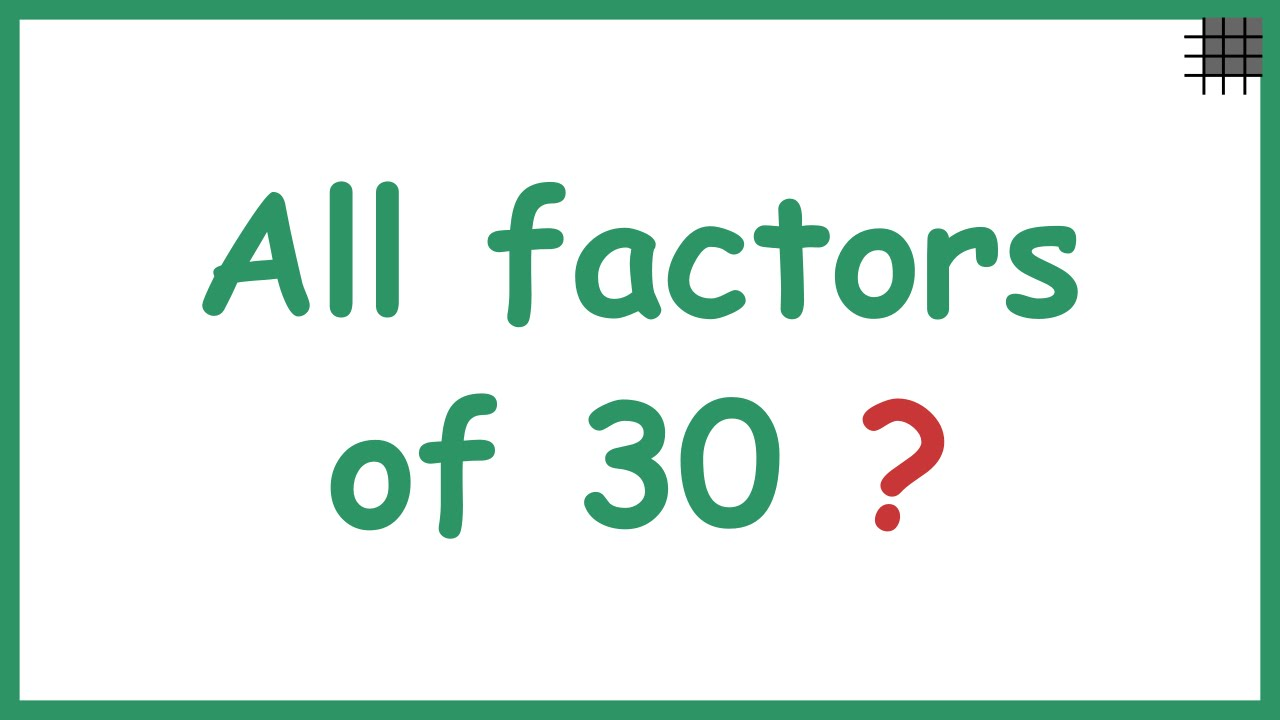 Worksheet What Is Factors Of A Number finding all the factors of a number youtube