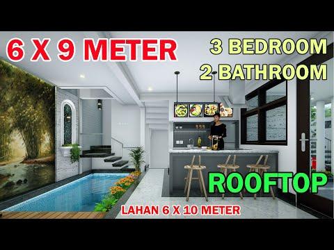 split-level-house-6x9-meter-3-kamar-2-toilet-mushola-rooftop-kolam-renang-lahan-6x10-meter