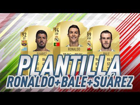 PLANTILLA BESTIAL con CRISTIANO RONALDO , BALE Y SUAREZ + PARTIDO DE FUT CHAMPIONS