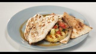 Шаверма с курицей на тарелке | Кухня по заявкам
