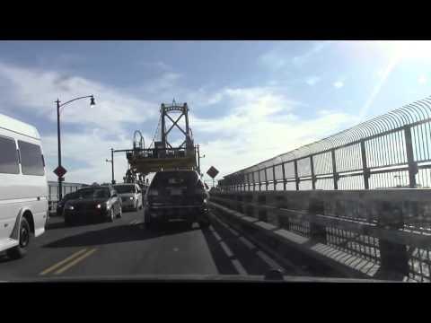 Dartmouth to Downtown Halifax, Nova Scotia - Crossing the Macdonald Bridge