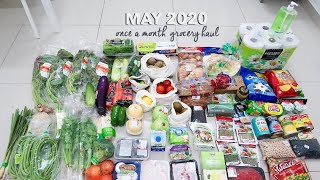 Once a Month Grocery Haul 🥦May 2020⎮ Jaya Grocer Malaysia
