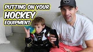 2. The Struggles of Putting on Hockey Equipment - Welcome to hockey