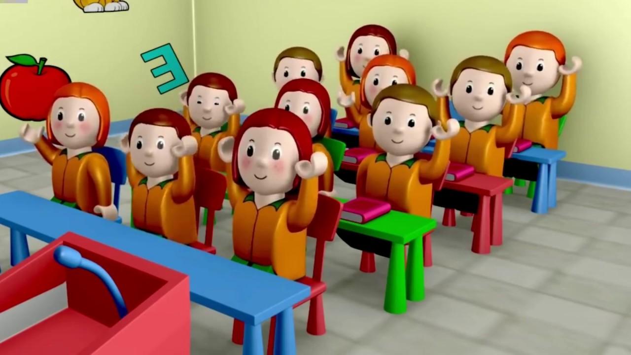 Animasi Transportasi Kereta Sekolah Kartun Sekolahan Bus