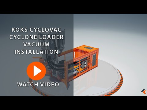 KOKS CycloVac Cyclone Loader Vacuum Installation   3D Animation