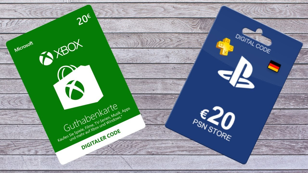 Giveaway 20euro Psn Oder Xbox Karte Youtube
