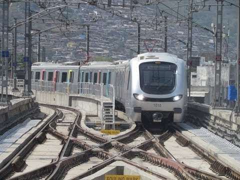 A ride in Mumbai Metro. Ghatkopar to Versova. Interior's and Exterior's views.