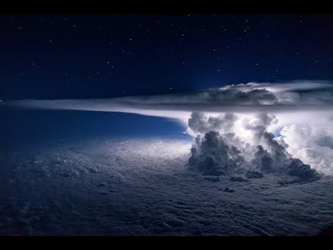 ISS Flying over the Earth Lightning show from SPACE Full HD