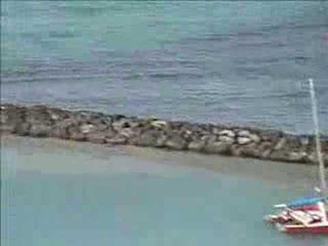 Running on the breakwater