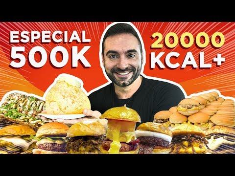 Comendo 20.000 Calorias de GRAÇA!! (Especial 500k) [#48~#51]
