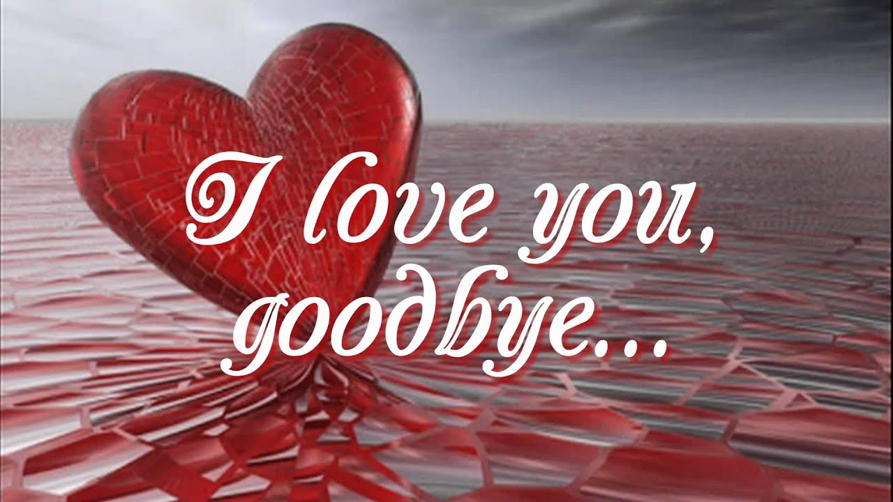 I love you but goodbye lyrics