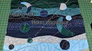 Fabric Art -  Moon Applique