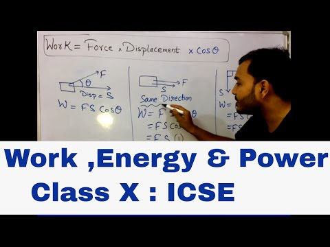 WORK,POWER,ENERGY : ICSE 10th PHYSICS :(in english ) WORK 01 INTRODUCTION : MUST WATCH