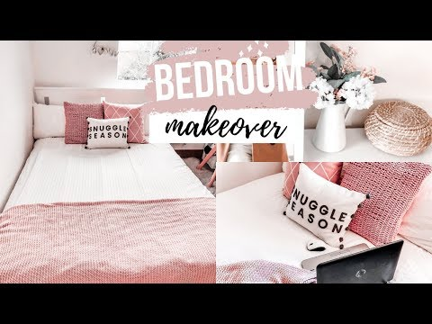 BEDROOM MAKEOVER | SMALL RENTAL BEDROOM IKEA MAKEOVER STORAGE & DECOR IDEAS ON A BUDGET