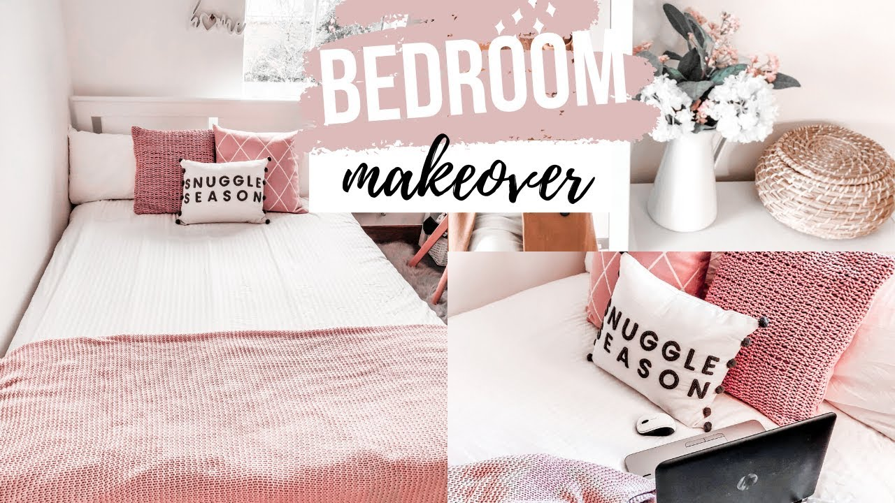 Bedroom Makeover Small Rental Bedroom Ikea Makeover Storage Decor Ideas On A Budget Youtube