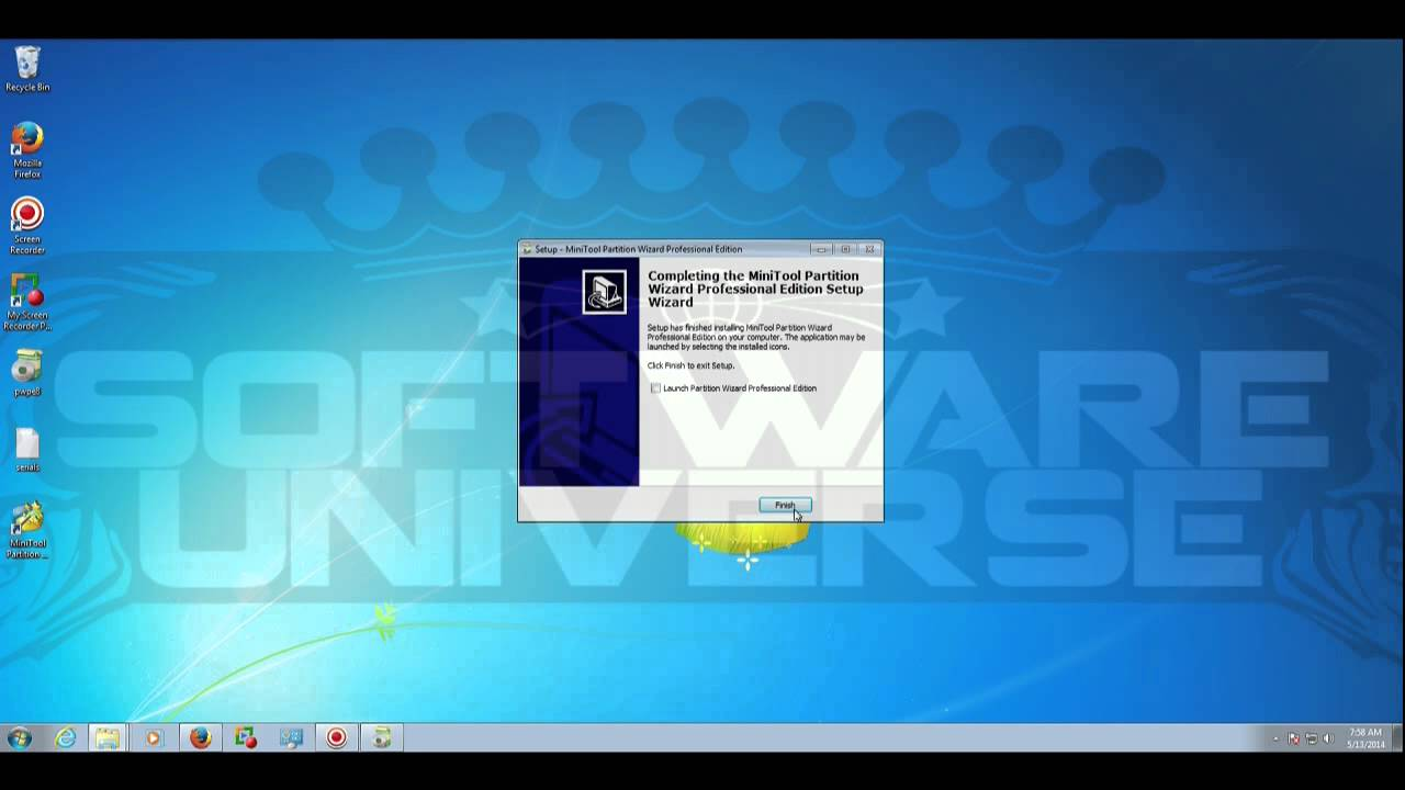 MiniTool Partition Wizard Professional Edition Download - For testing ONLY!  Survey FREE!