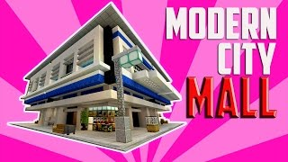 Minecraft City Decoration Ideas! Modern Shopping Mall and Train Station & More! YouTube