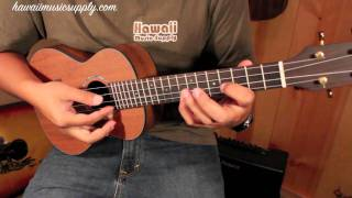 "Ukulele Tutorial - ""While My Guitar Gently Weeps"" - Jake Shimabukuro version-Part 1"