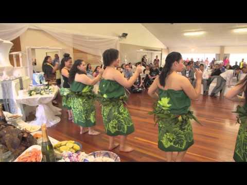 Polynesian Cultural Items at a Polynesian Wedding