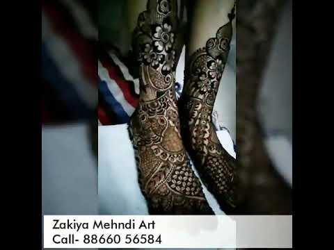 Mehndi Bunch On Arm : Another bridal mehndi designs by zakiyamehndiart youtube