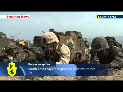 North and South Korean forces exchange fire across disputed western maritime border