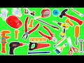 Learn HAND TOOLS Names | Educational Video for kids in English | Video with Real HAND TOOLS