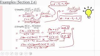 MCR3U/Grade 11 Functions: 2.6 (Examples)